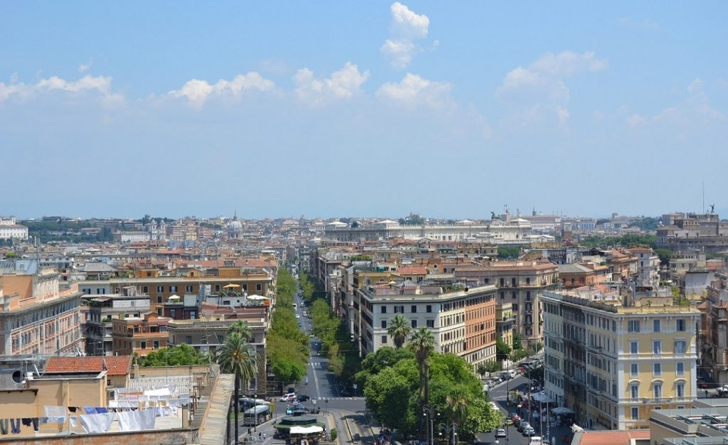 Blick auf das sommerliche Rom