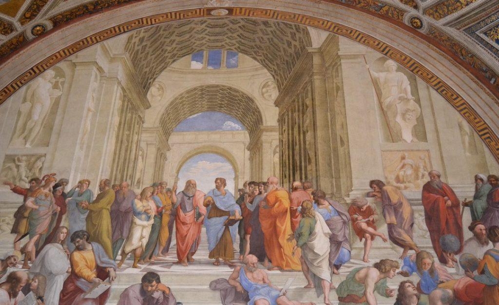 """Fresko """"Schule von Athen"""" des Raffael, Stanza della Segnatura"""