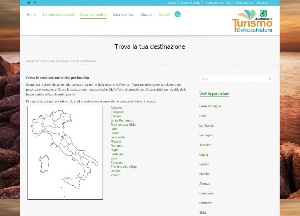 Trova la tua destinazione - Legambiente Turismo