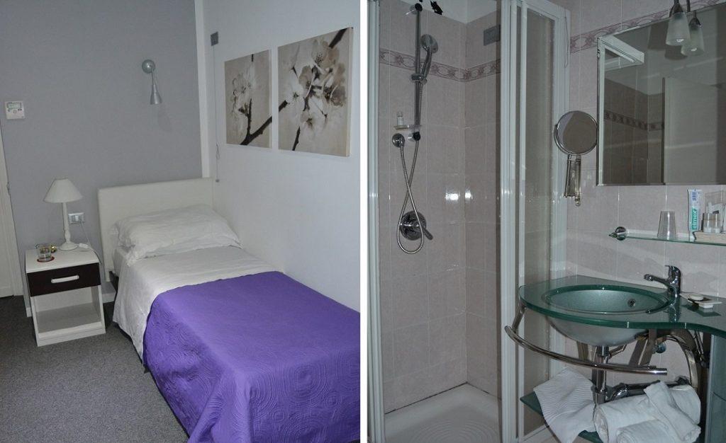 Villa Pirandello Zimmer und Bad