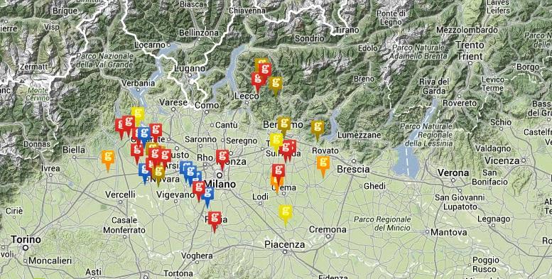 Karte Mitglieder des Gorgonzola-Konsortiums