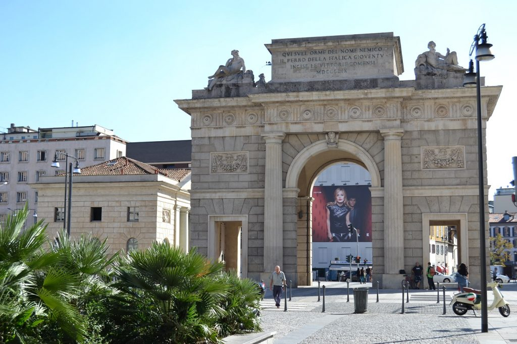 Porta Garibaldi - triumphal arch through the ages
