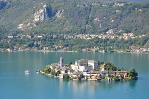 Lake Orta with Giulio island