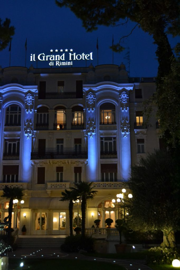 Blue hour with Grand hotel