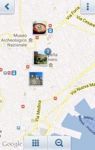 Fotokarte azzurrodiary (hier Neapel)