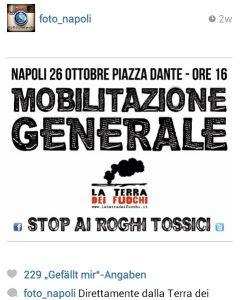 """Demo in Neapel für """"La Terra dei Fuochi"""""""