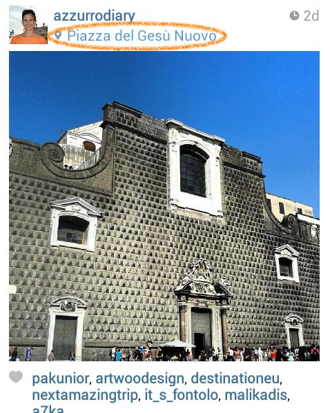 Geo-Tag Piazza Gesù Nuovo