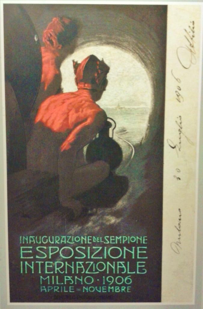 Plakat zur Einweihung des Simplontunnels 1906