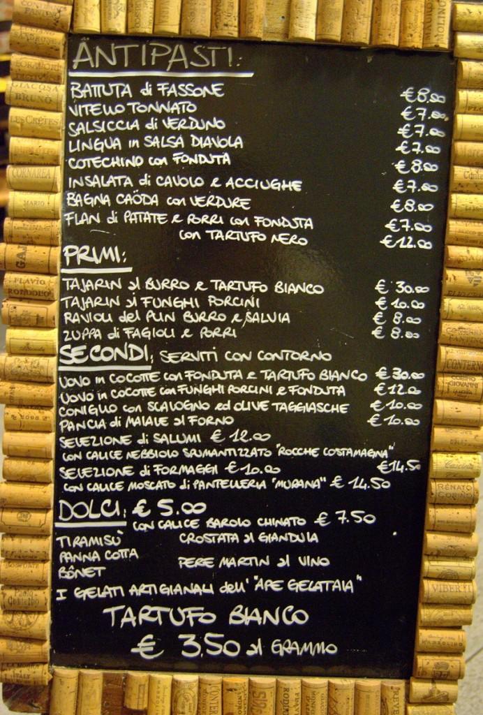 Menü, Osteria More e Macine, La Morra