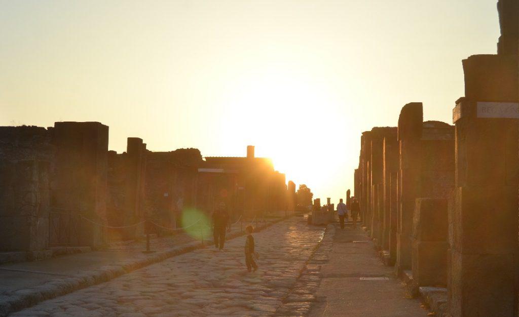 Sonnenuntergang in Pompej