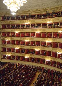 In La Scala theatre in Milan