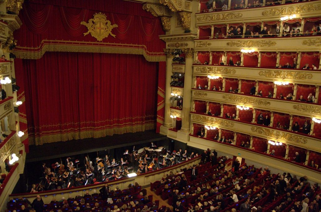 La Scala audience and stage