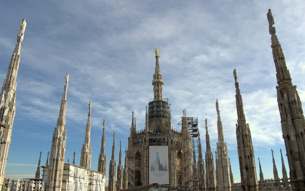 Milan cathedral rooftop terrace