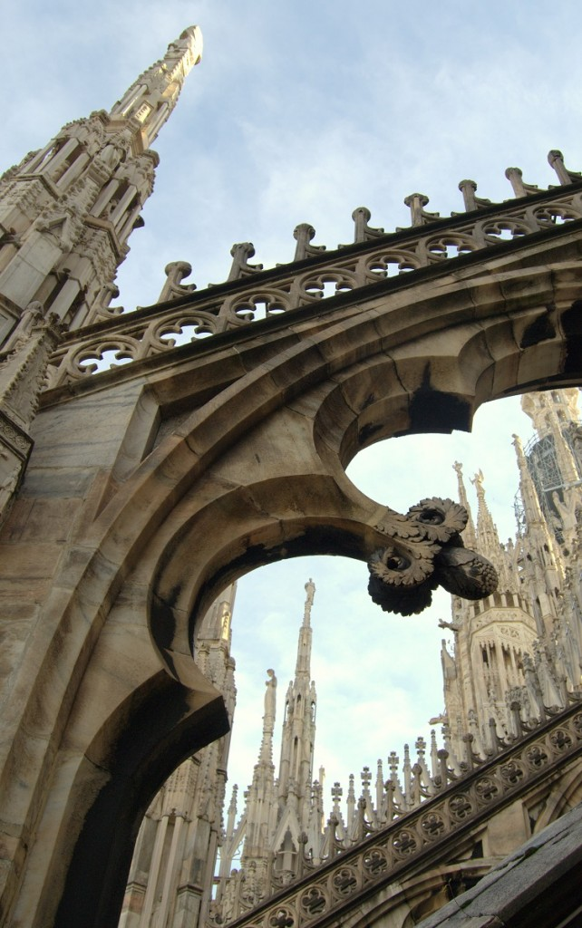 Milan cathedral roof elements