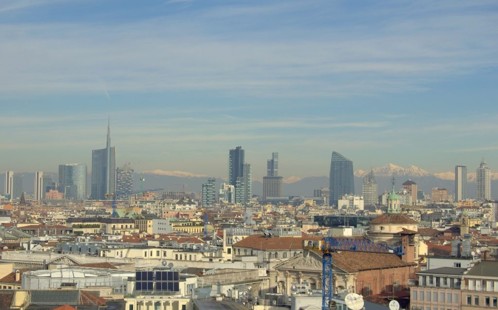 Milan skyline and Unicredit needle