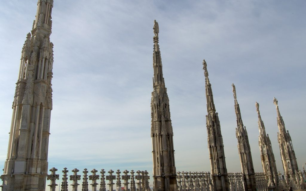 Milan cathedral - statues on the roof