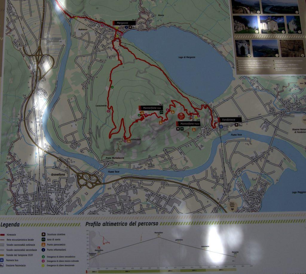 Karte Stockalperweg Montorfano