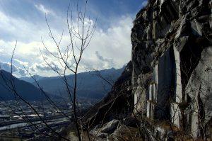 Steinbruch am Montorfano und Ossolatal
