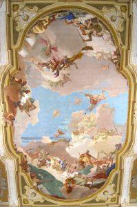 Deckenfresko Tiepolos in der Villa Pisani