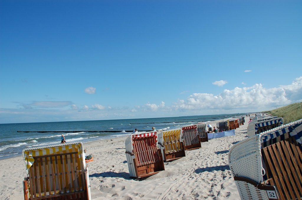 Strandkörbe Ostseestrand
