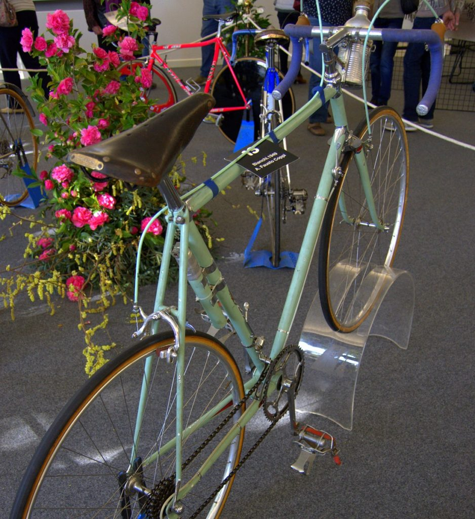 Rennrad des fünffachen Giro-Siegers Fausto Coppi