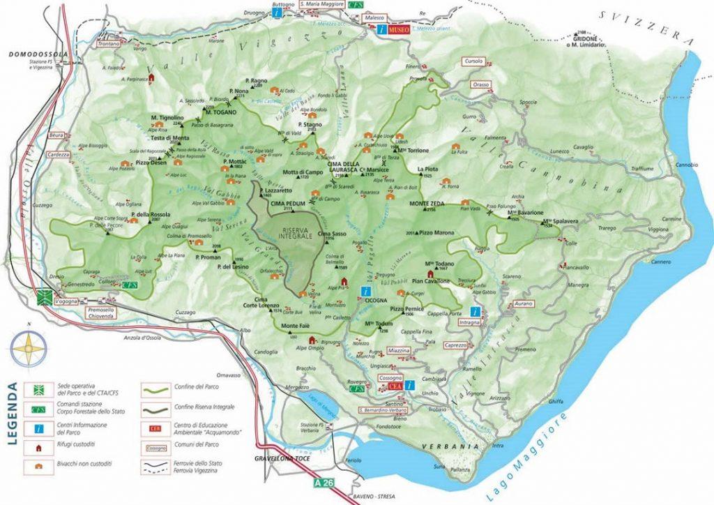 Karte Val Grande parks.it