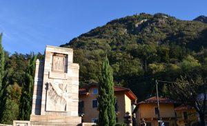 Monumento Rosa und Mine im Hintergrund