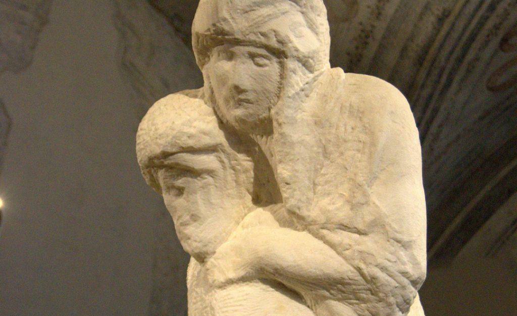 Pietà Rondanini Gesicht und Hand nah