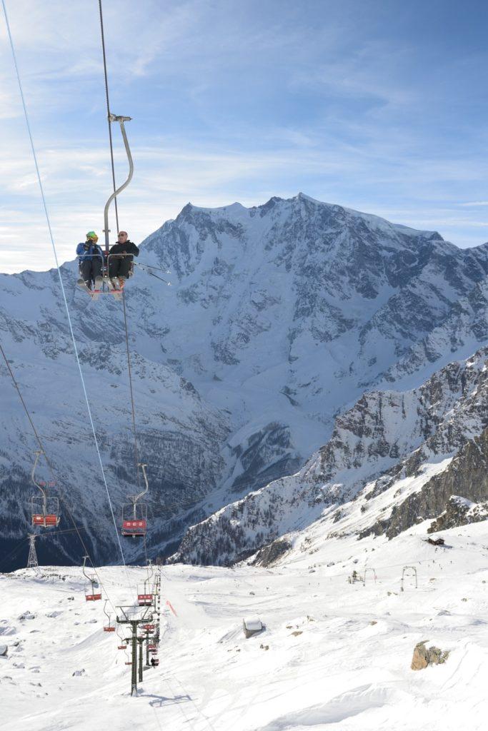 Skilift und Monte Rosa