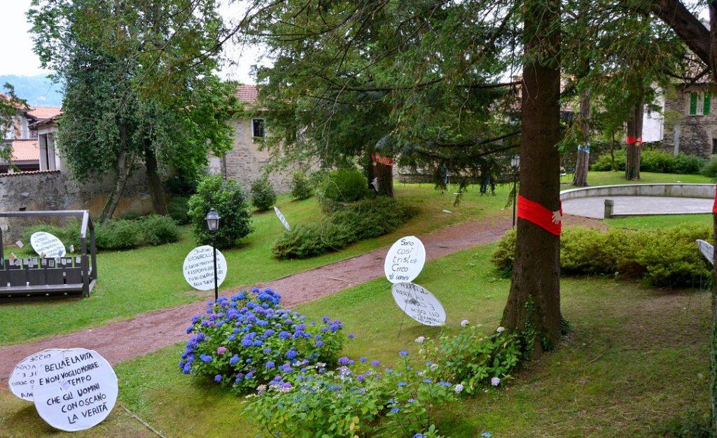 Botschaften im Parco Neogotico Studi Aperti 2016