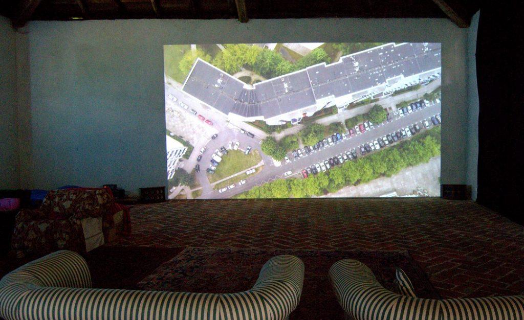 Videoinstallation Distance in der Villa Pastorale Studi Aperti 2016