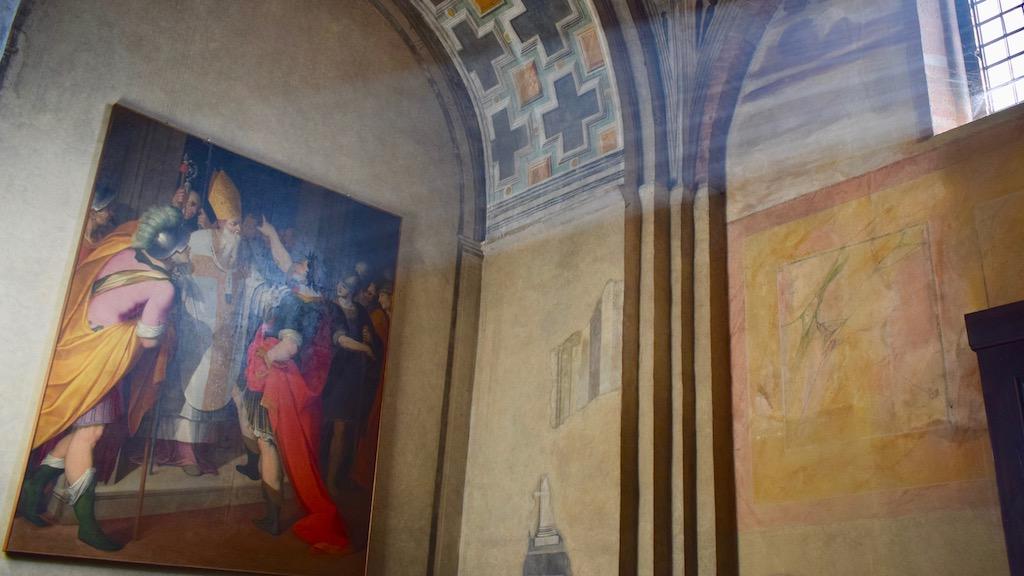 Ambrosius verwehrt Kaiser Zutritt zur Kirche