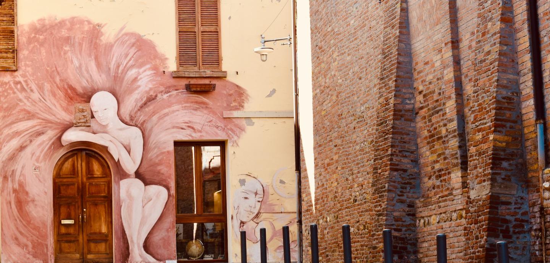 Dozza Fassade muro dipinto