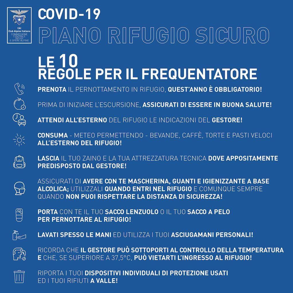 Urlaub in Italien 2020 – Regeln in Berghütten des CAI
